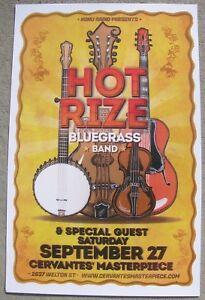 HOT RIZE Bluegrass Cervantes - Denver, Colorado 11x17 Gig Flyer / Concert Poster