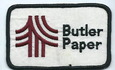 Butler Paper employee patch 2-5/8 X 4 #144
