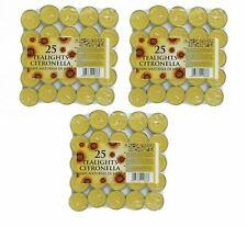 CB Import SUN202518 25 Pieces Citronella Tea Lights - Multicolor