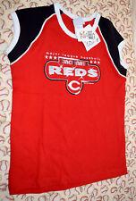 Cincinnati Reds Girls 10/12 Sleeveless T-Shirt MLB Baseball NWT