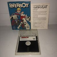 """UNTESTED Paperboy 5.25"""" Disk PC/IBM XT AT TANDY Computer Game Mindscape Big Box"""