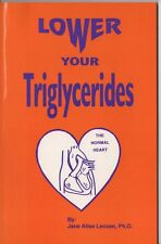"""Lower Your Triglycerides""  Jane A. Lenzen (3rd and final edition) Two Copies!"
