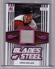 JOHN LeCLAIR 17/18 Leaf ITG Superlative Blades of Steel Leather Skate Patch #/25