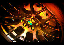 BMW RIMS WHEELS NEW A4 POSTER GLOSS PRINT LAMINATED
