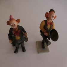 2 figurines clowns résine SPAIN vintage art déco Espagne design PN France N3022