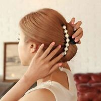 Mode Kristall Zubehör Haarklammer Schwarze Klaue Kopfschmuck Perle Hairpin