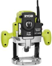 Ryobi Plunge Base Router 2-HP 10-Amp Variable-Speed Power Tool Wood Green Corded