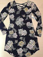 Womens Dress Juniors Size S/CH (3-5) Knee Length Floral Print No Boundaries