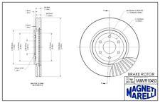 Disc Brake Rotor Front Magneti Marelli 1AMVR10453 fits 2008 Nissan Pathfinder