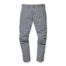 G-Star Raw Elwood X25 5622 3D Tapered Canvas Hickory Stripe Print Jeans Pharrell