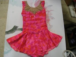Custom made Girl ice skating dress size CL or AXS