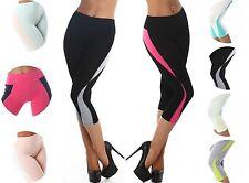 Wadenlange Damen-Leggings aus Baumwollmischung