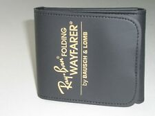BAUSCH & LOMB RAY BAN BLACK FOLDING WAYFARER SUNGLASSES CASE ONLY (BRAND NEW)