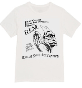 Gig flyer t-shirt rem and lets active r.e.m band poster