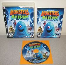 MONSTERS VS ALIENS PlayStation 3 PS3 Complete w/Manual Dreamworks Adventure