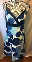 Ann Taylor Sleeveless Dress Woman's Size 6 Aline Pre Owned Condition