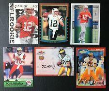 Lot of 6 2000 Tom Brady Rookie Reprint Cards - Mint - New England Patriots