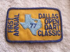 Vintage First Annual Dallas Open Dart Classic Patch 1977