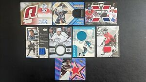 Upper Deck Game Jersey Patch Auto Rookie Lot of 8 NHL Hockey Cards BV $114 BAP
