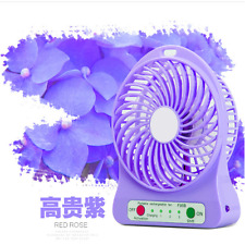 Portable LED Light Fan Air Cooler Mini Desk USB Fan Third Wind
