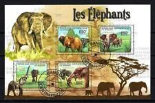 Animaux Eléphants Centrafrique (238) série complète de 4 timbres oblitérés