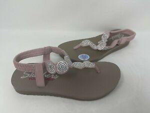 NEW! Skechers Women's MEDITATION STARS & SPARKLE Sandals Lite Pink #31755 70P tz