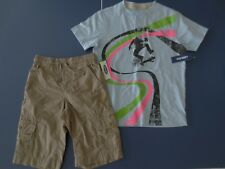 NEW Boy 5 OLD NAVY Short Sleeve T-Shirt Skate Boarder AND Khaki Shorts Outift