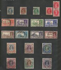 INDIA SG247-64 THE 1937-40 GVI SET FINE USED ON ALBUM PAGE CAT £143