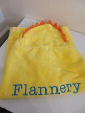 POTTERY BARN KIDS CRITTER BABY BATH WRAP HOODED TOWEL SUN FLANNERY MONOGRAMMED