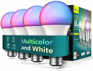 Treatlife Smart Light Bulbs 4 Pack, Music Sync Color Changing Light Bulbs RGB