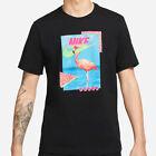 Nike Mens Flamingo T-Shirt Graphic Fit Swoosh Logo Athletic Active Wear Gym