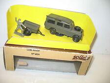 SOLIDO, Land rover kaki avec remorque, militaire 1/43