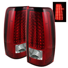 Chevy 99-02 Silverado 99-03 GMC Sierra Red Clear LED Tail Lights Left & Right