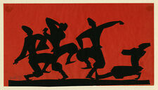 WILHELM HUNT DIEDERICH, 'Cossack Dancers', signed paper silhouette, c. 1920.