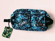 A BATHING APE PORTER [TROPIC CAMO] WAIST BAG JAPAN BLUE BLACK BACK PACK BAPE NEW