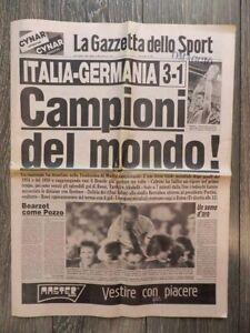 LA GAZZETTA DELLO SPORT CALCIO MONDIALI SPAGNA CAMPIONI DEL MONDO 1982