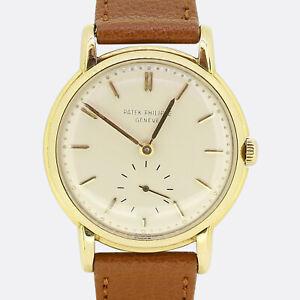 Vintage 1950s Patek Philippe Calatrava Gents Manual Wristwatch 2484 18ct Gold