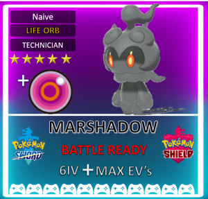 Pokemon Sword & Shield 6IV Marshadow!! MAX EV 6IV! BRAND NEW! Extremely RARE!