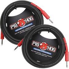 """2 Pig Hog 25' Foot Speaker Cable 1/4"""" PHSC25 8mm 14 gauge Ft Amp Head PigHog"""