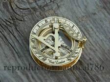 Solid Brass Compass Maritime Nautical Astrolabe Marine Ship Instrument Compass G
