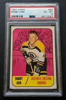 1967 Topps Bobby Orr #92 PSA 6 EX-MT Bruins Legend Hockey Card