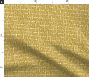 Mustard Yellow Gold Diamond Geometric Spoonflower Fabric by the Yard