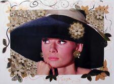 "MARIA MURGIA - ""Audrey Hepburn"" - Fotografia dipinta cm 60x80"