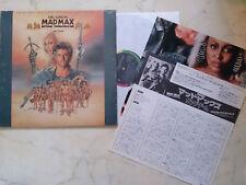 Japanpressung Mad Max Beyond Thunderdome Original Foc LP + Insertos Tina Turner