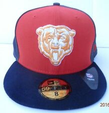 CHICAGO BEARS NEW ERA NFL FOOTBALL Fitted CAP SZ 8  3 Tone 59Fifty New Free Ship