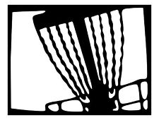 Disc Golf Vinyl Sticker Decal Basket in Square