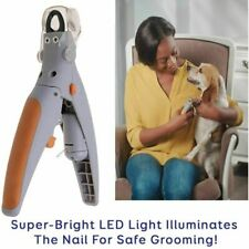 Pet Pro Professional Dog Nail Clippers Led Light Magnifies Trimmer Grinder
