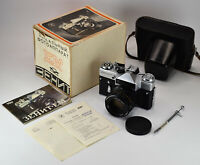 "EXC! EXPORT RUSSIAN USSR ""ZENIT-EM"" SLR CAMERA + HELIOS-44m lens, FULL SET (2)"