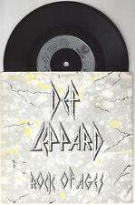 """Def Leppard """"Rock of Ages"""" 7"""" OOP VG+ UK AC/DC"""