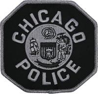 "CHICAGO POLICE 4"" SHOULDER PATCH: Police Officer Subdued"